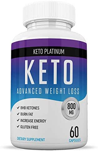 Keto Pills - Ketogenic Fat Burner - for Women & Men - Promotes Healthy Energy Levels - Burn Belly Fat Fast - Carb Blocker - Keto Platinum - 60 Capsules