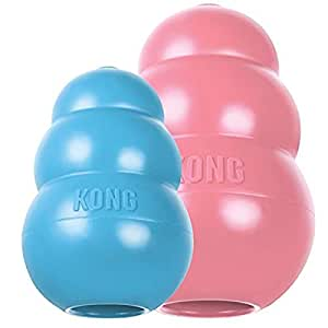 KONG Puppy KONG Toy, Large, Assorted Pink/Blue