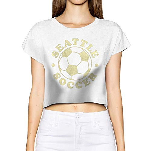(Household-items-Fly-shop Vintage Seattle Soccer Women's Cropped Top Leaking Navel T-Shirt)