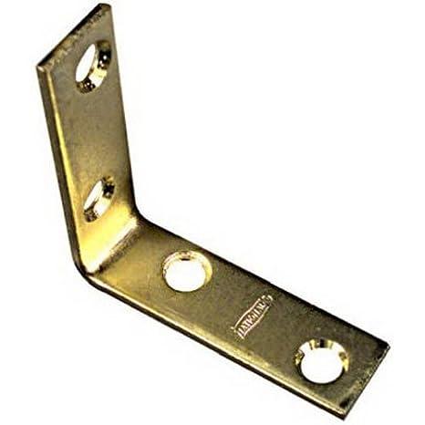 NATIONAL MFG//SPECTRUM BRANDS HHI N190-850 Corner Iron 3 x 3//4 Bright Brass Finish Standard Plumbing Supply