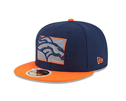 NFL Denver Broncos Men's New Era State Flective Redux 59FIFTY Fitted Cap, Orange, 7 3/8