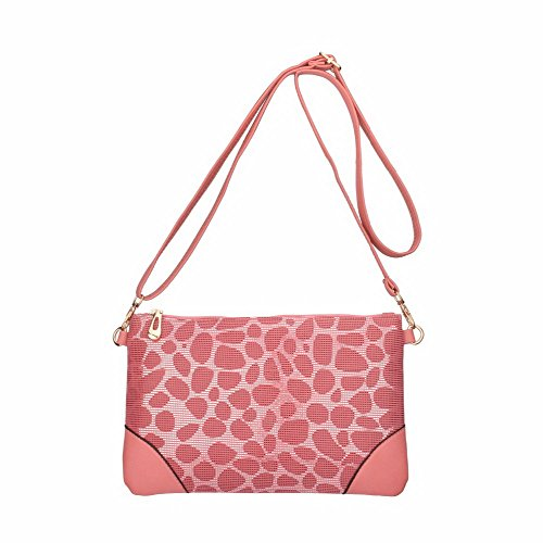 Out Bag Purse Leather Vintage Crossbody Jiaruo Pink Sling Girls Hollow Handbag Women 3 xCw8IqS