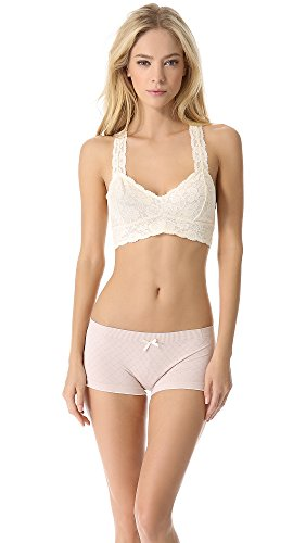 Free People Galloon Lace Racerback Bralette, XS, Ivory