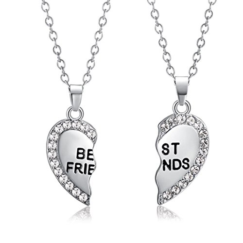 (TOPUNDER Best Friend Unisex Mens Womens Heart Pendant Necklace Jewelry Chain by)