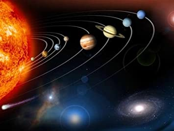 High Quality Space Wall Murals   Digitally Generated Image Of Our Solar System And  Points Beyond   60