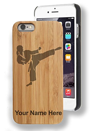 Bamboo Case for iPhone 6/6s - Karate Woman - Personalized...