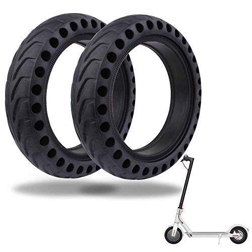 (TOMALL Honeycomb Rubber Damping Solid Tire 8.5 Inch Front/Rear Tire Wheel Replacement for Xiaomi M365 Electric Scooter 2PCS)