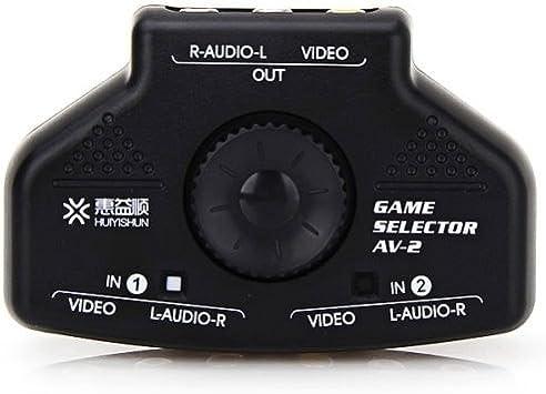 Adaptadores de Audio, AV-2 Multi Box TV RCA Video Device Extender interruptor selector + 3 RCA cable, 2 entradas y 1 salida del sistema: Amazon.es: Electrónica