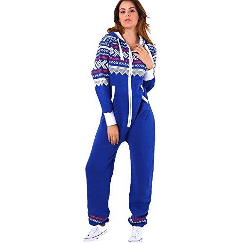Manches Royal Blue Grenouillère Aztec Trends White Femme Longues Fashions qT7Fg
