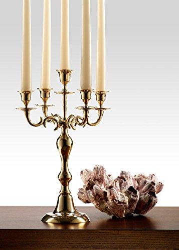 Polished Brass Candelabra