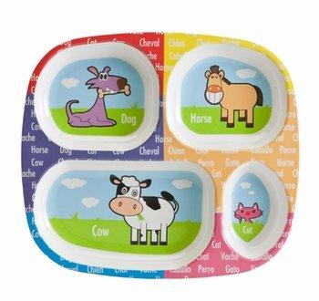 amazon com melamine divided kids plate animal design case pack 24