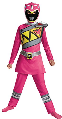 Girl's Pink Power Ranger Dino Charge Classic Outfit Child Halloween Costume, Child M (7-8)