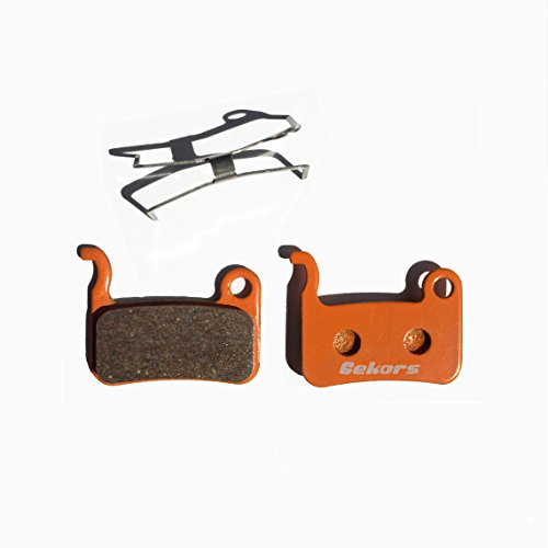 Gekors Ceramic Bicycle Disc Brake Pads for Shimano XTR/Deore/XT/SLX/Hone/Alfine,1 Pair with a Spring