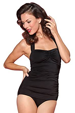 Esther Williams 1950s Pin Up Retro One Piece Swimsuit in