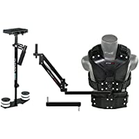 FLYCAM 5000 Camera Stabilizer with Comfort Arm and Vest + FREE Arm Support Brace & Table Clamp (FLCM-CMFT-KIT)| Stabilization System for DSLR Video camcorders up to 5kg/11lbs