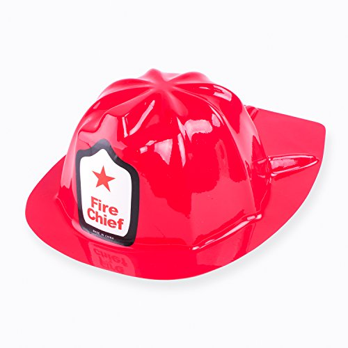 Red Firefighter Fire Chief Party Hats, Emergency Truck Rescue Patrol Theme Soft Plastic Children's Birthday Helmet Props Supplies Favors (12 Pack, One Size Fits Most) by Super Z Outlet -