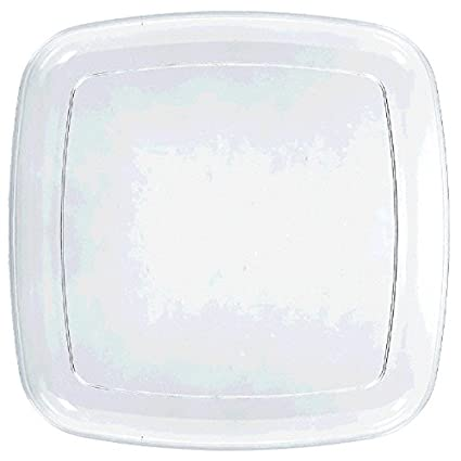 Amscan Clear Square Platter TradeMart Inc 437562.86 12 Ct