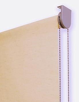 Image of Estor Enrollable Lino Premium Metal (Desde 40 hasta 260cm de Ancho) translúcido (Permite Paso de luz/no Permite Ver el Exterior). Color Lino Tostado. Medida 120cm x 160cm para Ventanas y Puertas.