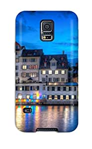 Flexible Tpu Back Case Cover For Galaxy S5 - Amazing Zurich At Night