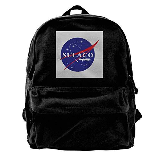 Price comparison product image MIJUGGH Canvas Backpack Sulaco NASA Logo Aliens Rucksack Gym Hiking Laptop Shoulder Bag Daypack for Men Women