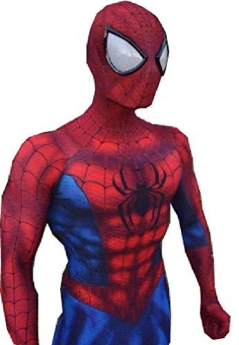 ComicCosplay Spider-Man Cosplay   Homecoming Spiderman Cosplay   Premium Zentai Strechy Lyrca Fabric   Mask/Lens Included (Large, Original -