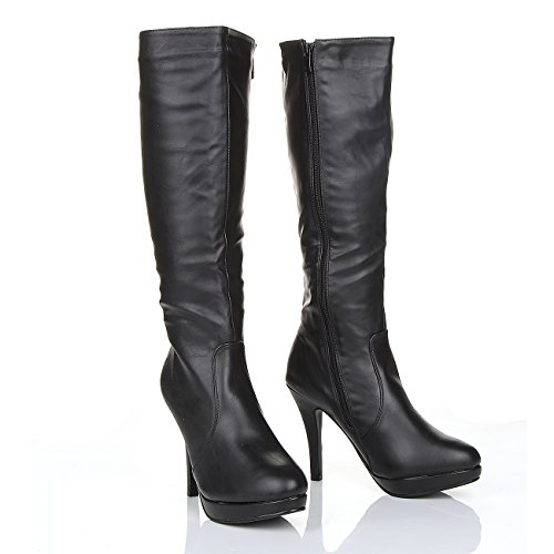 Forever, Damen Stiefel & Stiefeletten  schwarz schwarz 37.5
