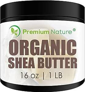 Shea Butter Raw Organic African - 16 oz Pure Virgin Unrefined Body Butter Stretch Mark Eczma Natural Lip Balm Organic Skin Care Scar Cream DIY Skin Food Naturals Packaging May Vary