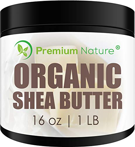 Shea Butter Raw Organic African - 16 oz Pure Virgin Unrefined Body Butter Stretch Mark Eczma Natural Lip Balm Organic Skin Care Scar Cream DIY Skin Food Naturals Packaging May Vary