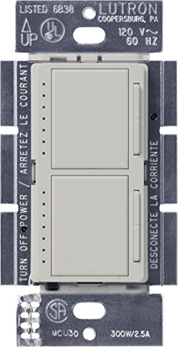 - Lutron Maestro Dual Dimmer Switch for Incandescent and Halogen Bulbs, 300-Watt, Single-Pole, MA-L3L3-PD, Palladium