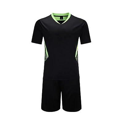 BOZEVON Boys and Men's Short Sleeve Sportswear Teamwear Training Soccer Uniform Suit