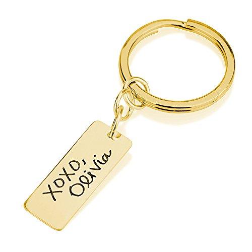L'écriture Porte-clés-avec votre Signature Signature personnalisé-L'écriture Porte-clés