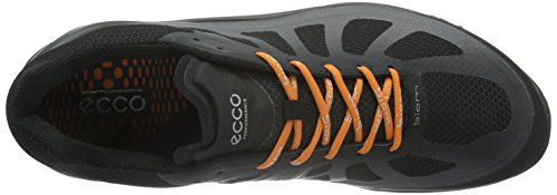 ECCO Biom Fjuel Men's, Scarpe Sportive Outdoor Uomo Nero(black/Black/Orange 50202)