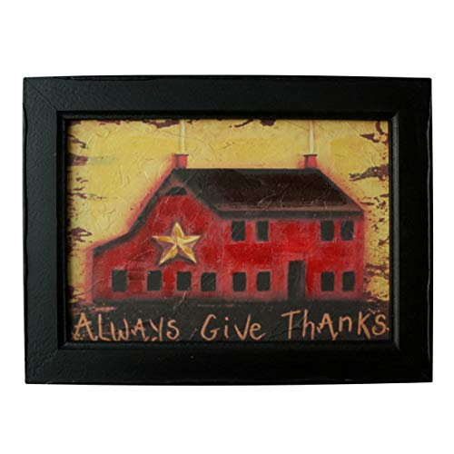 CVHOMEDECO. Country Vintage Hand Painted Wooden Frame Wall Hanging 3D Painting Decoration Art, Rustic Farm House Design, 15-3/4