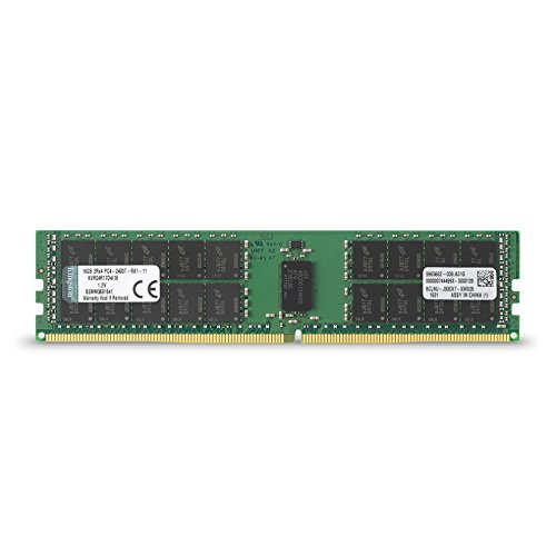 Kingston ValueRAM 16GB 2400MHz DDR4 ECC Reg CL17 DIMM 2Rx4 Desktop Memory (KVR24R17D4/16)