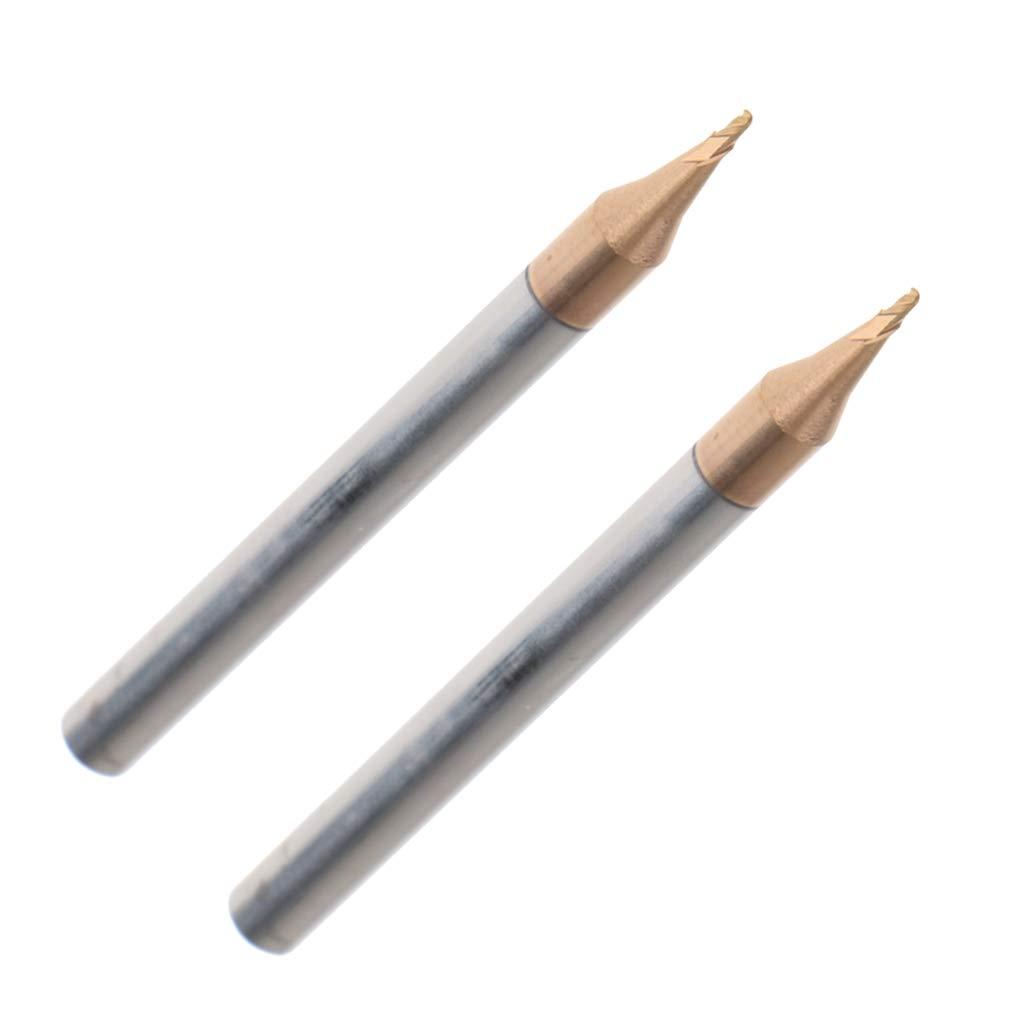 4 mm Schaft B Blesiya 2pcs CNC 0,5mm Fr/äser Schaftfr/äser Stahlbohrer f/ür Holzbearbeitung//Weichmetalle