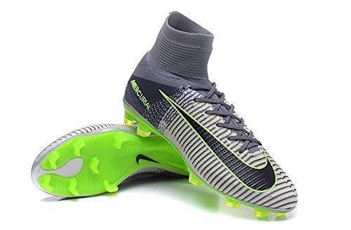 demonry zapatos para hombre Mercurial Superfly V FG–Botas de fútbol de fútbol de color gris, hombre, gris, 40