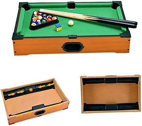 Mini tablero piscina Set Mini mesa de billar escritorio miniatura mesa de billar Conjunto de mesa de juego de juguete piscina-billar de mesa: Señales y la cremallera ...