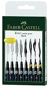 Faber-Castell Wallet Pitt Pen Nibs Art Set, Assorted