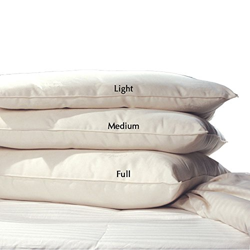 LIFEKIND Certified Organic Pillow; Size: Standard, Loft: Full, GOTS-Certified Organic Wool Fill, Made in the ()