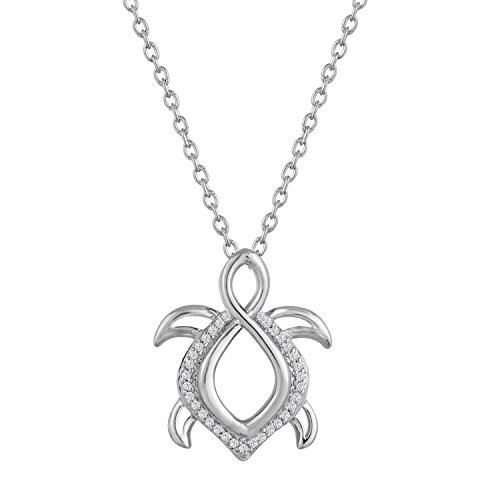 diamond-accent-sterling-silver-turtle-pendant-16-18-adjustable-chain