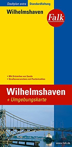 Falk Stadtplan Extra Standardfaltung Wilhelmshaven