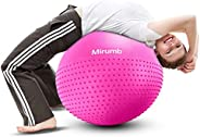 Mirumb Exercise Ball 55cm/65cm/75cm, Anti Burst Slip Resistant Yoga Ball, Swiss Ball, Fitness Ball, Gym Ball,