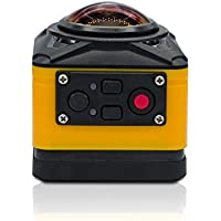 Wireless VR Live 360 Degree Panoramic Camera Video Full View Action Sports Camera Digital Video Outdoor Sports Waterproof Ultra HD Mini Wifi DV Action Camera(Orange)
