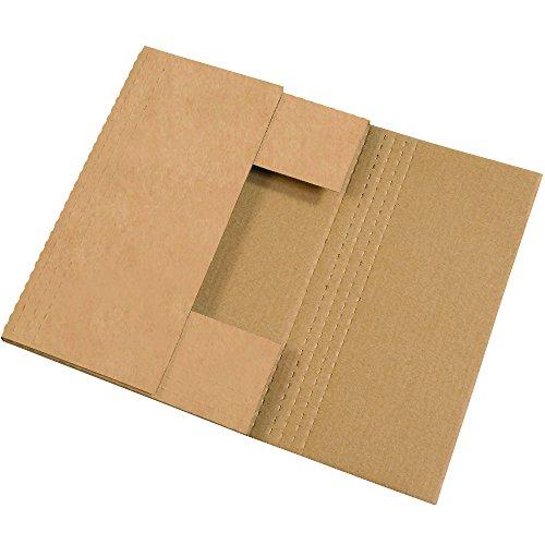 "BOX USA BM18122BFK Easy-Fold Mailers, 18"" x 12"" x 2"", Kraft (Pack of 50)"