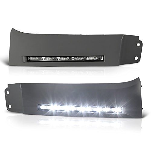 VIPMOTOZ LED Strip DRL Front Bumper Light Driving Lamp Paintable Panel For 2007-2013 Toyota Tundra & 2008-2017 Toyota Sequoia - Power Switch & Universal Wiring Included, Driver & Passenger Side ()