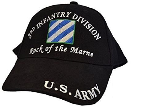 U.S. Army 3rd Third Infantry Division Rock The Marne Black Embroidered Cap Hat 405C