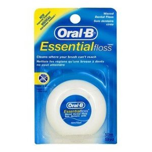 Oral-B Essential Floss Waxed 55 Yards (Pack of - Oral B Essential Floss Waxed