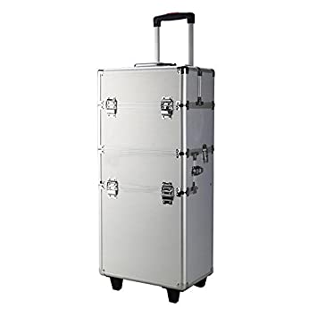 50a1e6ebd280 Amazon.com : Lovinland Makeup Cosmetic Train Case 3 in 1 Aluminum ...