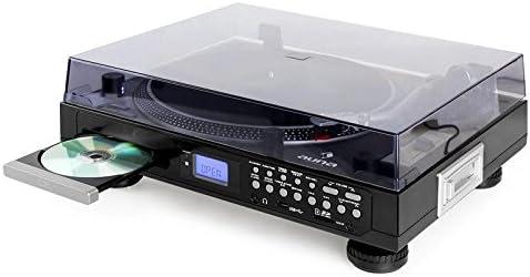 Auna TT-1200 Tocadiscos CD USB SD Negro: Amazon.es: Electrónica