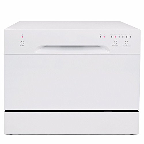Countertop Dishwasher white Portable Compact Energy Star Apartment Dish Washer